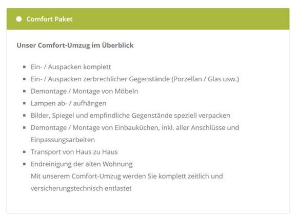 Umzug Service Einpacken Auspacken für 73660 Urbach